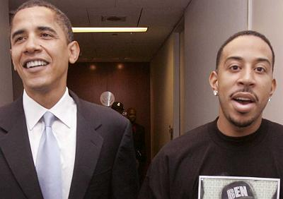 Obama and a trash rapper